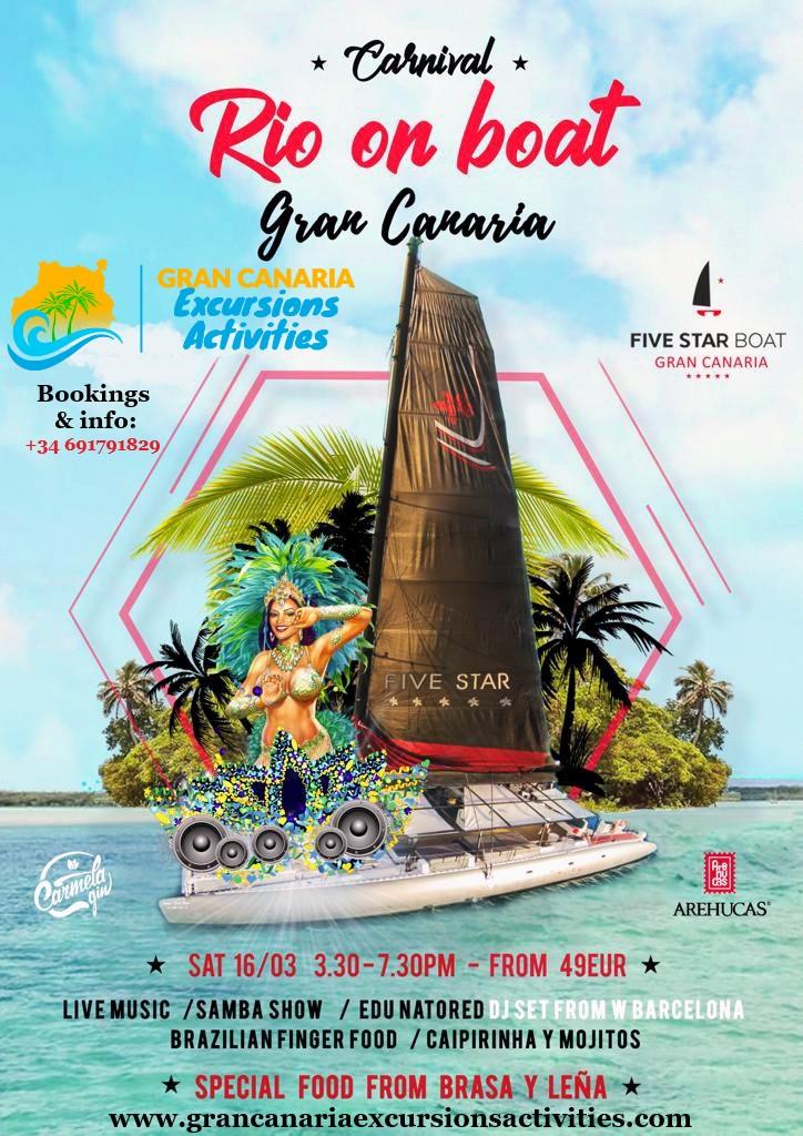 Carnival Rio on Boat